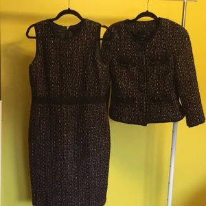 Talbots 8 tweed dress + jacket